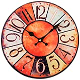 Perle pd design orologio da parete in vetro orologio al quarzo Vintage Design ca. Diametro: 30 cm, Vetro, Shabby