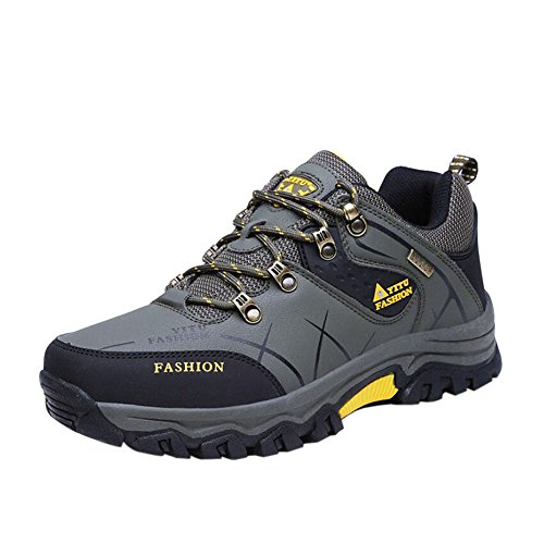 Haodasi Herren Wanderschuhe High Top Trekking Schuhe Rutschfeste Outdoor Warm Waterproof Walking Klettern Sneakers 1QmlUS0X