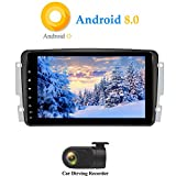 XISEDO Android 8.0 Autoradio In-Dash 8 Zoll Car Radio 8-Core RAM 4G ROM 32G Autonavigation Car Radio für Mercedes-Benz CLK W209/ C Class W203/ Viano/Vito/ Vaneo(mit DVR)