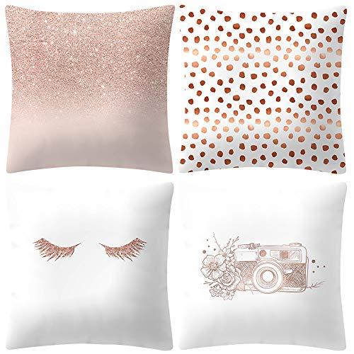 ABsoar Kissenbezuge Weihnachten Kissenhülle Dekokissen Throw Pillow Covers Für Autos Sofakissen Startseite Dekorative Weihnachten Sofa Bett Home Decor, Rose Gold Pink -