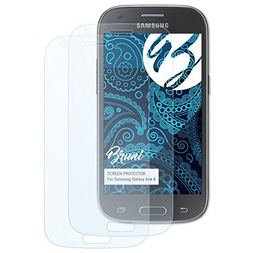 Bruni Schutzfolie für Samsung Galaxy Ace 4 Folie - 2 x glasklare Displayschutzfolie (Samsung Galaxy Ace Display)