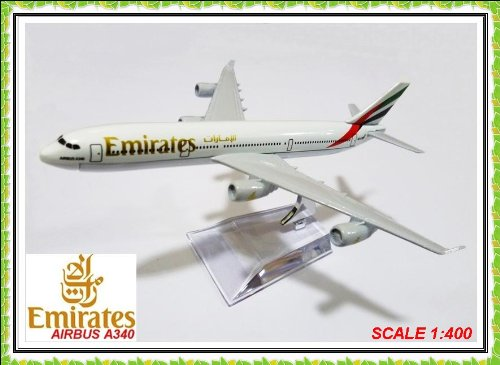 airbus-a340-emirates-airlines-metal-plane-model-16cm