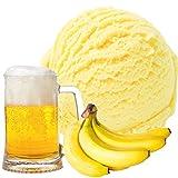 Banane-Bier Geschmack für Speiseeis Gino Gelati Eispulver Softeispulver für Ihre Eismaschine (333g)