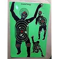 UsefulThingy Blanco al Tiro - Objetivos para Prácticas de Tiro - Pistola Fusil Arma de Fuego Airsoft (Zombi Pack de 10)