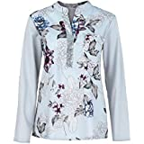 YANG YI Clearance Offer Women's Casual Stylish V Neck Long Sleeves Large Size Floral Print Tops T-Shirts & Shirts Sequined Blouse - B07KK6LHW1