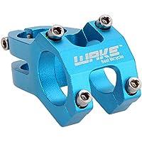 Ciclismo bicicleta aleación de aluminio MTB montaña bicicleta manillar vástago 31,8mm qbbrt, azul