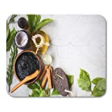 Mouse Pad Organic Skincare Treatment Products Mud Mask Clay Olive Oil Mousepad