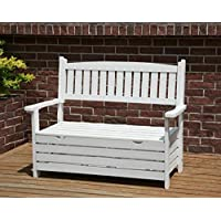Garden Storage Bench Rustic Solid Wood Furniture Antique Wooden 2 Seater Patio Deck Box Large Yard Backyard Park Seat Small Armchair Outdoor Vintage Chest Trunk Traditional Cabinet Seating Chair