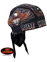Authentic Bikers Premium Headwraps, RIDE WITH PRIDE - High Quality Micro-Fiber & Mesh Lining HEADWRAP