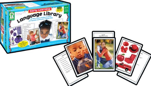 Early Learning Language Library Learning Cards, Grades Pk - K - Pk Amp
