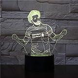 Football star Muhammad Salah illusion light touch sensor baby kid night light office room decoration lamp gift year