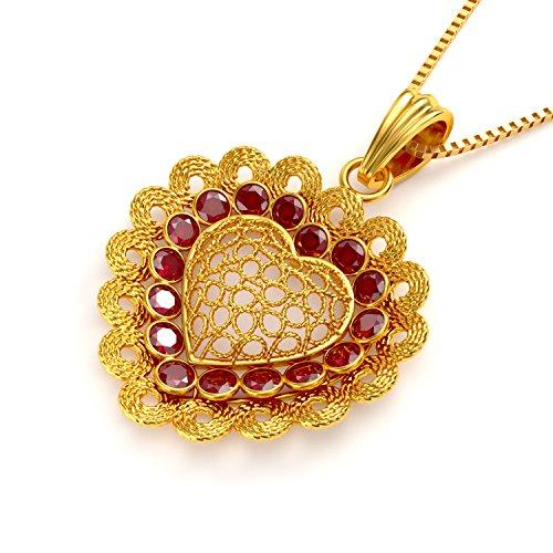 Joyalukkas 22kt yellow gold and ruby pendant for girls aloadofball Gallery