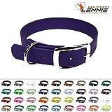 LENNIE BioThane Halsband, Dornschnalle, 25 mm breit, Größe 44-52 cm, Lila/Violett, Aufdruck möglich, 4 Größen, 48 Farben, Hundehalsband