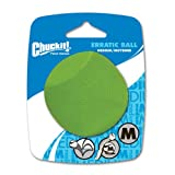Chuckit 201101 Erratic ball Medium, 1 Hundeball kompatibel mit ballwerfer, M