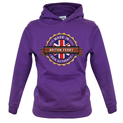 Made In BRITON FERRY 100% Authentic - Childrens / Kids Hoodie - 9 Colours - Ages 1-13 Years
