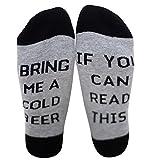 Chalier IF YOU CAN READ THIS BRING ME A GLASS OF WINE Socken Lustige Unisex Damen Mann Socken Neuheit Baumwolle Crew Socken