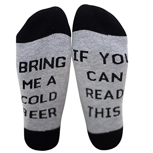 Acryl-crew Socke (Chalier IF YOU CAN READ THIS BRING ME A GLASS OF WINE Socken Lustige Unisex Damen Mann Socken Neuheit Baumwolle Crew Socken MEHRWEG)