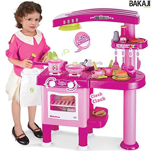 BAKAJI Cucina per Bambine Grande Giocattolo 69 Accessori con ...