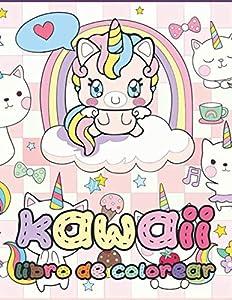 Kawaii libro de colorear: ¡Relajantes