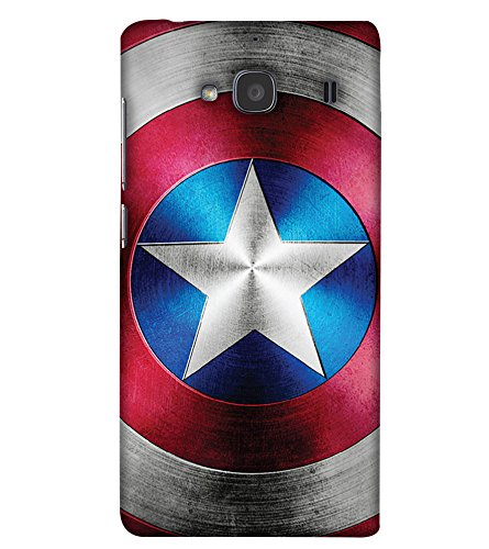 PrintHaat Designer Back Case Cover for Xiaomi Mi 2S :: Xiaomi Redmi 2S :: Xiaomi Redmi 2 Prime :: (Sci-Fi Super Power Captain America) :: Captain America Shield :: Superhero :: Powerful :: Shining Star :: red and blue :: fantasy world :: civil war