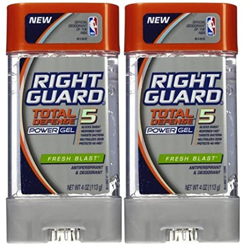 Right Guard Total Defense 5 Power Gel Antiperspirant/Deodorant, Fresh Blast