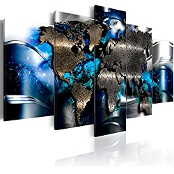 B&D XXL murando Impression sur Toile intissee 200x100 cm cm 5 Parties Tableau Tableaux Decoration Murale Photo Image Artistique Photographie Graphique Monde Abstrait k-A-0017-b-p