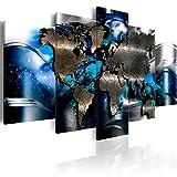 murando - Bilder 200x100 cm - Vlies Leinwandbild - 5 Teilig - Kunstdruck - Modern - Wandbilder XXL - Wanddekoration - Design - Wand Bild - Weltkarte Abstrakt k-A-0017-b-p