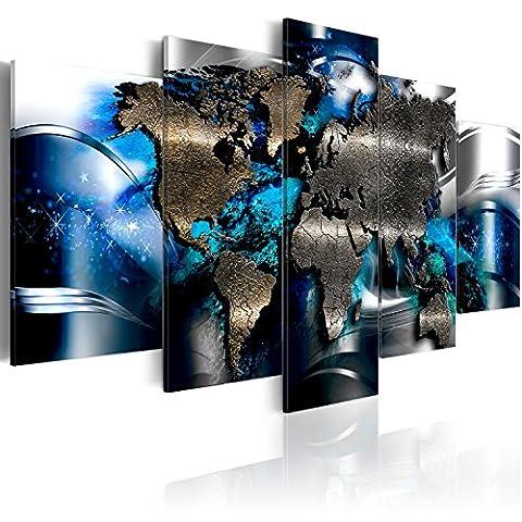 murando NOUVEAU! Moderne Impression sur verre acrylique 200x100 cm - 5 Parties - 2 formats au choix - Images – Photo - Décoration - pret a accrocher - Carte du monde Abstraction k-A-0017-k-p 200x100 cm