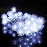 LED Lichterkette 30 LED Kaltweiß Schneeflocken mit 8 Modi EU Stecker LED Beleuchtung für Party, Deko, Feiern, Garten, Terrasse, Hof, Haus, Weihnachten