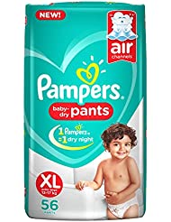 Pampers New Extra Large Size Diapers Pants, 56 Count