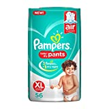 #5: Pampers New X-Large Size Diapers Pants, 56 Count