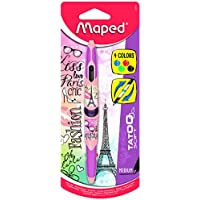 Maped Twin Tip Tatoo Teen 229442 Stylo 4 Couleurs décor Paris