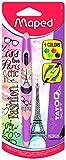 Maped M229442 - Kugelschreiber Twin Tip 4, Tattoo Teen, 4-farbig, Motiv Mädchen, 1 Stück