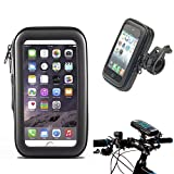 Waterproof Bike Frame Bag Bicycle Handlebar Cellphone Case Cover Mount Holder Cradle For iPhone 5 5S 5C 4 4S, Samsung Galaxy S3 S4 etc.