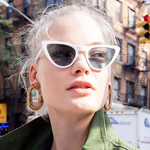 ANDIAOG-Home New Retro Dreieck Cat Eye Sonnenbrille Europa und den Vereinigten Staaten Trend Mode Sonnenbrillen transparente Sonnenbrille (Color : White)