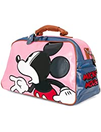 ililily Disney Mickey Mouse Color Block Weekender Duffle Travel Bowler Bag