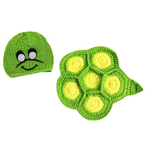 Baby Kostüm Turtle - Mallb Neugeborene Unisex Baby Turtle Style gestrickte Wolle Kostüm Outfits Foto Lieferant Fotografie Prop