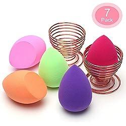 Esponja Maquillaje, O'Vinna [7-Pack] Esponjas para Maquillaje Facial de Belleza (5 Piezas Esponja De Maquillaje + 2 Piezas Makeup Esponja Soportes)