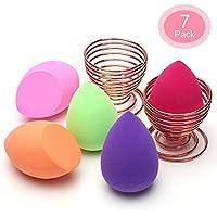 O'Vinna 5 Piezas Esponja Maquillaje + 2 Piezas Soporte de Esponja Fundación