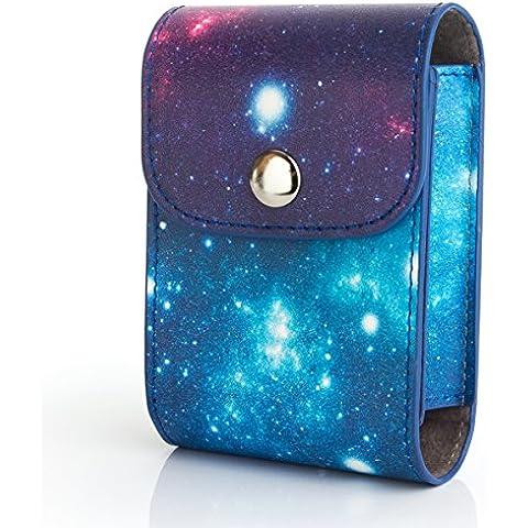 Woodmin Galaxy PU Bolsa de Cuero Protectora para Fujifilm Instax Foto e Lente