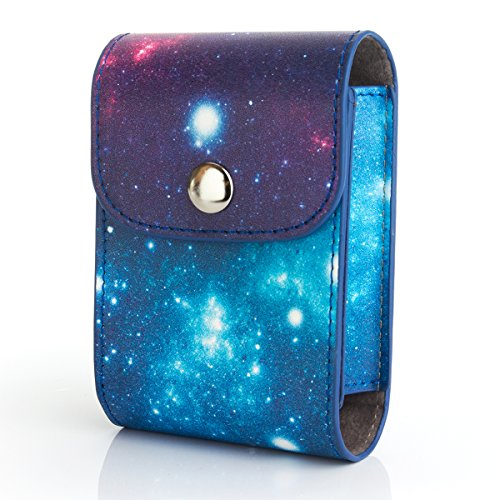 Woodmin Galassia PU Borsa di protezione di cuoio della per Fujifilm Instax Foto e Lens - Cuscino Dell'anello Set