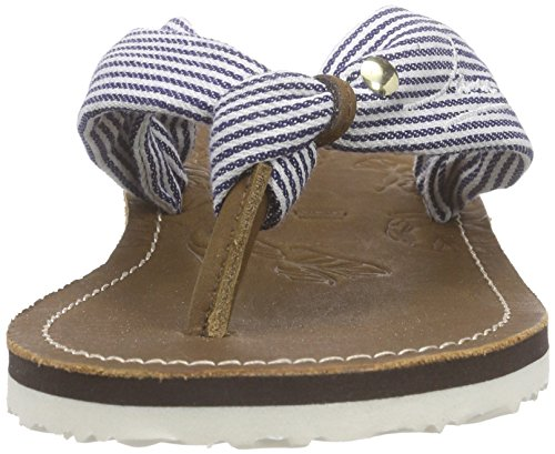 Jane Klain271 336 - Sandali infradito Donna Blu (Blau (Blue Striped 819))