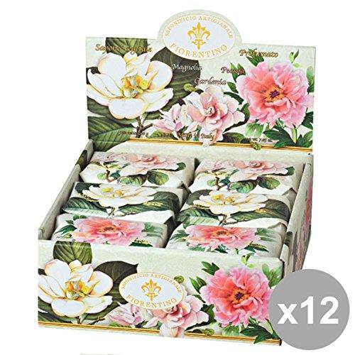 Set 12Florentiner Seifenschale gardenia-magnolia-peonia 200gr. Seifen und Kosmetik -