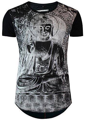 trueprodigy Casual Herren Marken T-Shirt mit Aufdruck, Oberteil cool und stylisch mit Rundhals (kurzarm & Slim Fit), Shirt für Männer bedruckt Farbe: Schwarz 1063110-2999 Black