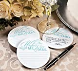 Wedding Wishes Advice Coasters for Wedding Receptions and Bridal Showers - Set of 100