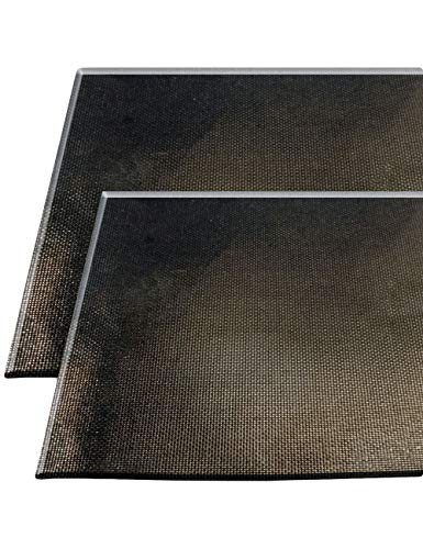 Home tools.eu®–2x griglia di matte/grill di base | con rivestimento antiaderente, riutilizzabile, facile da pulire, barbecue, forno back | 30x 40cm, set da pezzi