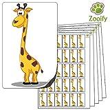 480 x Aufkleber - Giraffe . Hochwertige selbstklebende Etiketten mit