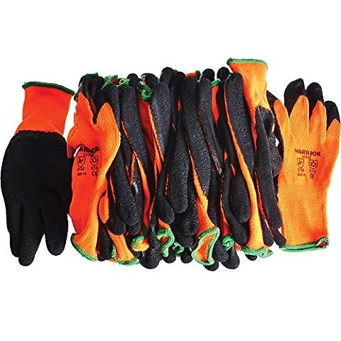 Präzise Engineered Scan knitshell Thermo-Handschuhe XL Orange/Schwarz [12Stück] [Top Spec]–W/3Jahre rescu3® Garantie