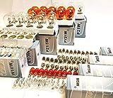 120x Stück 12V KFZ Beleuchtung AUTO LAMPEN SET [ W16W + W5W + W3W + WY5W + C5W + C10W + P21/5W + P21W + PY21W + R10W + R5W + W12W ] Glühlampe Glassockellampe Glühbirne Soffitte / chiavi