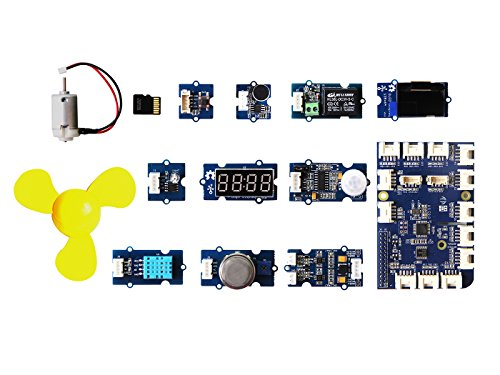 Gas-monitor-kits (Grove Kit for Win10 IoT Core and Azure Platform,included five projects with separate scenario,Sound and Light and relay,GAS monitor,One-Click SOS,Human detector,temperature and humidity sensor)